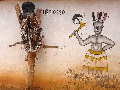 Voodoo. Hebiosso, the dangerous god of thunder, near Abomey.