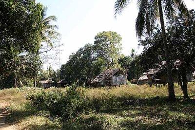 Abandoned houses in Koh Peak, Cambodia.