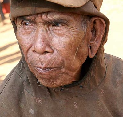 Old Kreung man from Nong Leg village, Cambodia