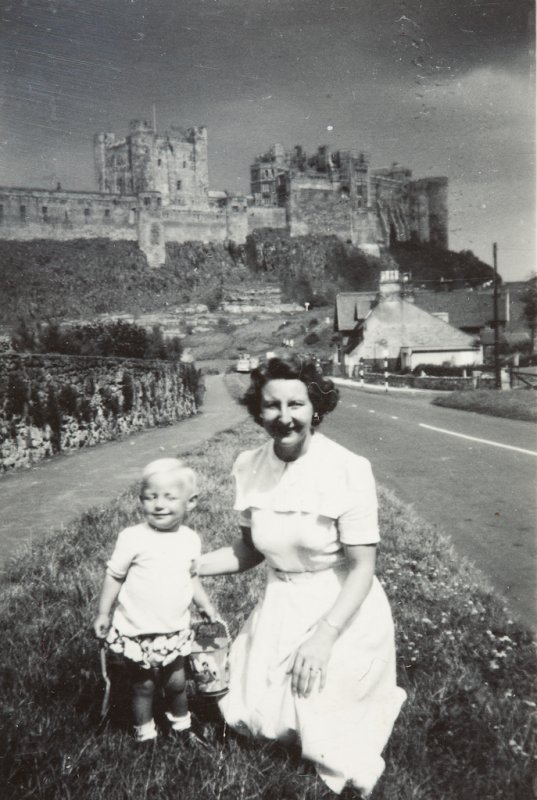 Isobel and Brian, Bambough Castle (c. 1956)