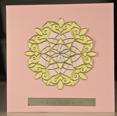 Pink and yellow medallion