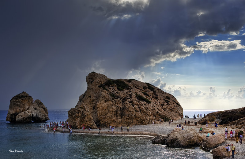 Storm over Aphrodites Rock