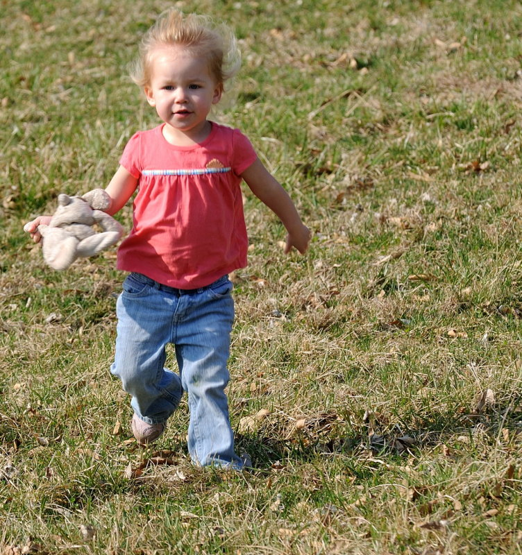 On the run with bunny