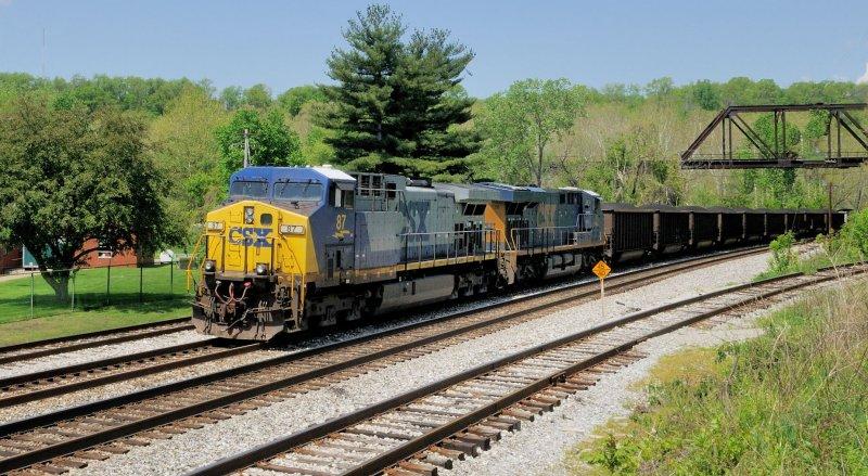 CSX 87 Loaded Coal Train