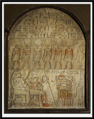Memorial Tablet (Stele) of Renu and his wife Dedet