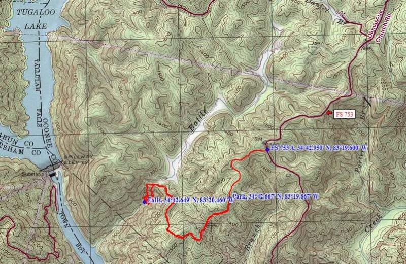 November 27 - Waterfall on Battle Creek, SC