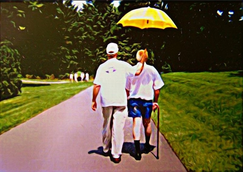 Bob and Dad 1998 Longwood Gardens Delaware