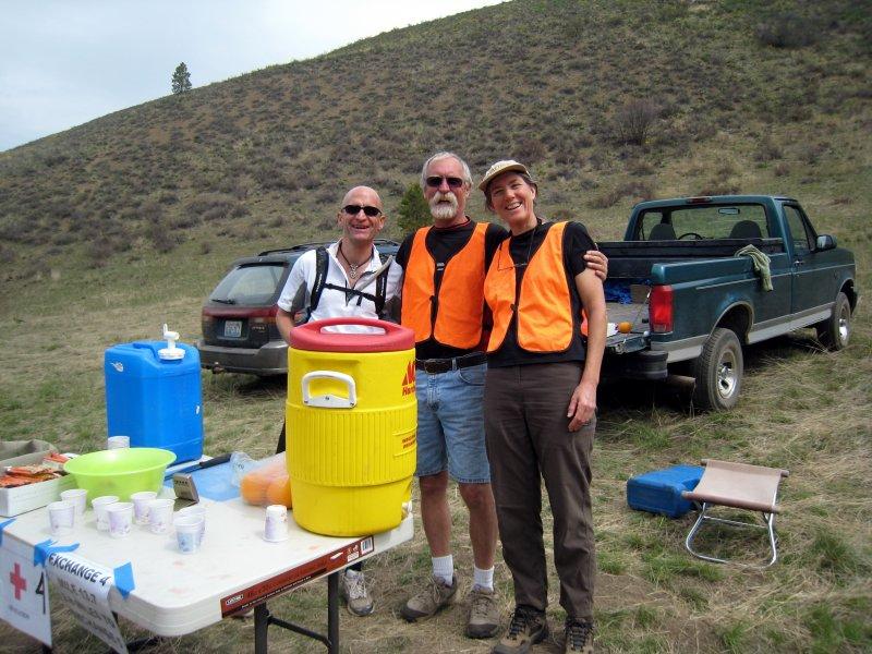 Aid station volunteers
