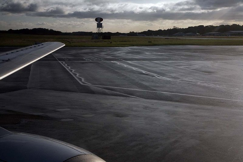 Taxiing in the wet