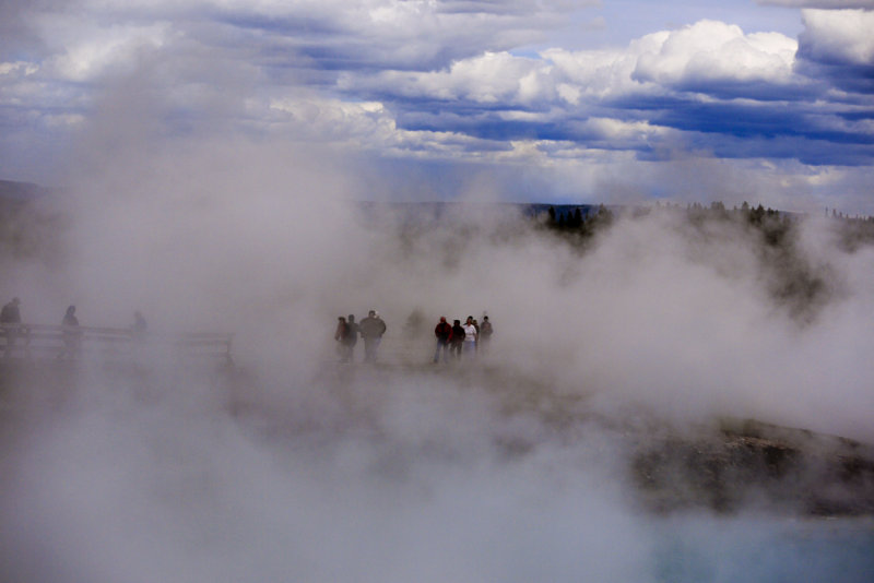 Hot springs, Yellowstone National Park, Wyoming, 2010