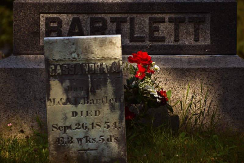 Grave of Cassandra Bartlett, West Dover, Vermont, 2010