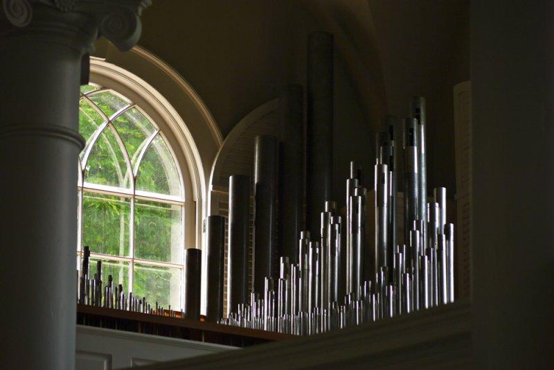 Organ loft, The Old First Church, Bennington, Vermont, 2010
