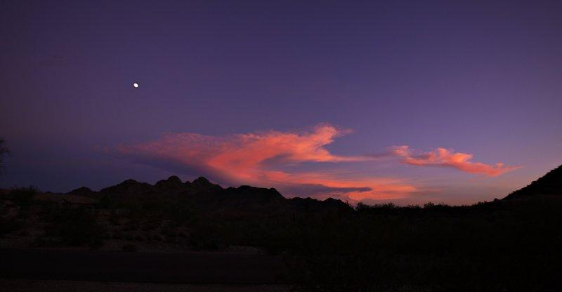 Moonrise, Phoenix Mountain Preserve, Phoenix, Arizona, 2010