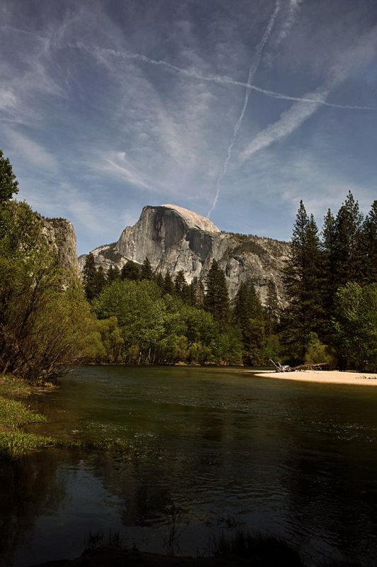 Graffiti over Half Dome, Yosemite National Park, California, 2008