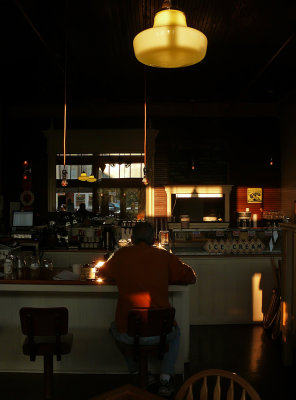 Dining alone, McCloud, California, 2008