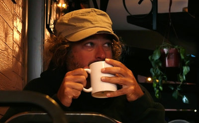 Morning coffee, Greenville, California, 2008