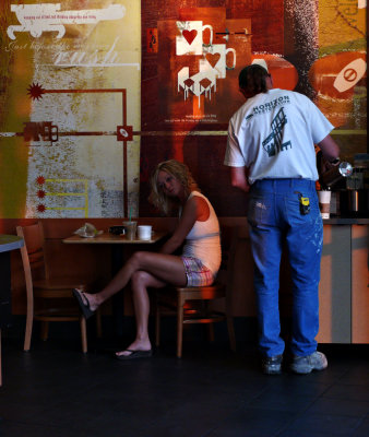 Sunrise at Starbuck's, Bend, Oregon, 2008