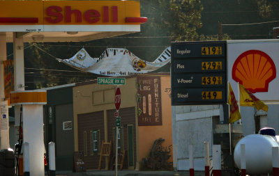 A blizzard of signs, Chiloquin, Oregon, 2008