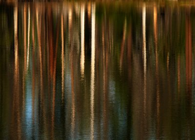 Reflection, Manzanita Lake, Lassen Volcanic National Park, California, 2008