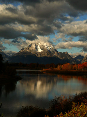 Mount Moran from Oxbow Bend, Grand Teton National Park, Wyoming, 2008