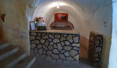 Hotel reception desk, Matmata, Tunisia, 2008