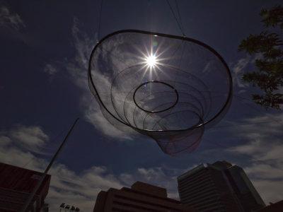 Opposing symbols, Downtown Civic Space Park, Phoenix, Arizona, 2009
