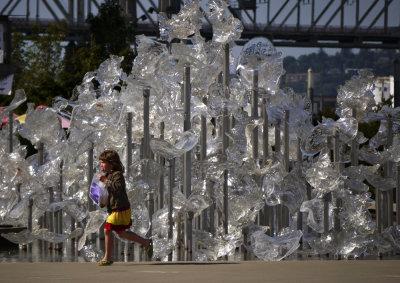 Fountain, Museum of Glass, Tacoma, Washington, 2009