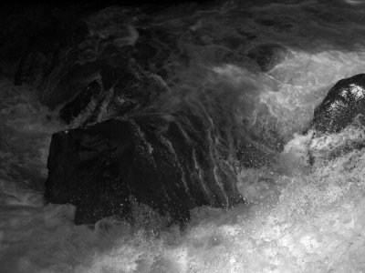 Black and white study, Rogue River Gorge, Oregon, 2009