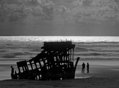 Contemplation, Shipwreck, Fort Stevens State Park, Oregon, 2009