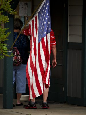 Wrapped in the flag, Jacksonville, Oregon, 2009