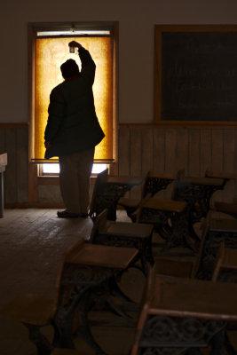 Shooting light and shade, Bannack, Montana, 2010
