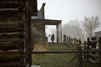 Ignoring the weather, Bannack, Montana, 2010