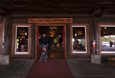 At the portal, Old Faithful Inn, Yellowstone National Park, Wyoming, 2010