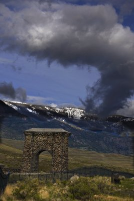 Roosevelt Arch, Yellowstone National Park, Wyoming, 2010
