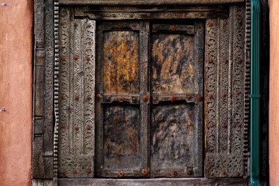 Old door, Santa Fe, New Mexico, 2010