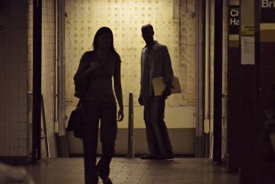 Subway encounter, New York City, New York, 2010