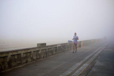 Foggy Run, Mission Beach, San Diego, California, 2010
