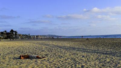 Alone, Mission Beach, San Diego, California, 2010