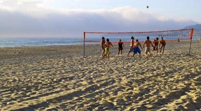 Volleyball, Mission Beach, San Diego, California, 2010