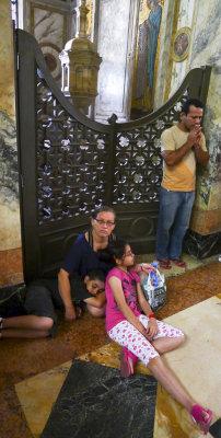 Family, Cathedral, Belem, Brazil, 2010
