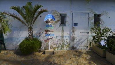 Art imitates life, St. Barts, French West Indies, 2011