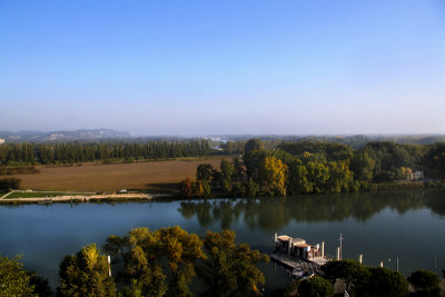 The river Rhône like a liquid belt....
