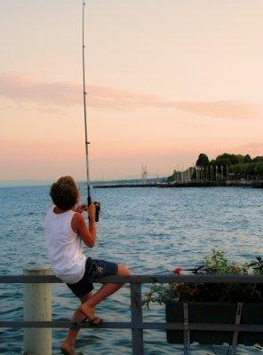 The sunset fisherman....