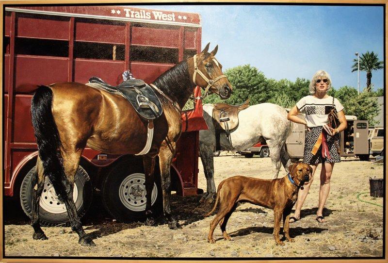 Western Tableau with Rhodesian Ridgback (Trail West), 1993
