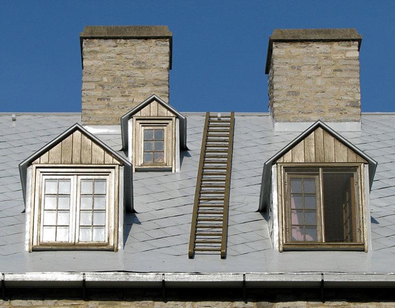 un toit du petit Champlain