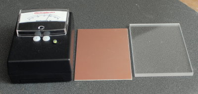 CT-33, Copper Plated Calibration Block & Acrylic Spacer
