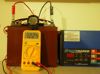 Resting voltage Fri 10:04 P.M. / 12.24 Volts
