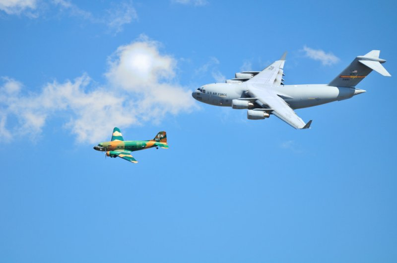 C47 and C17 fly-by