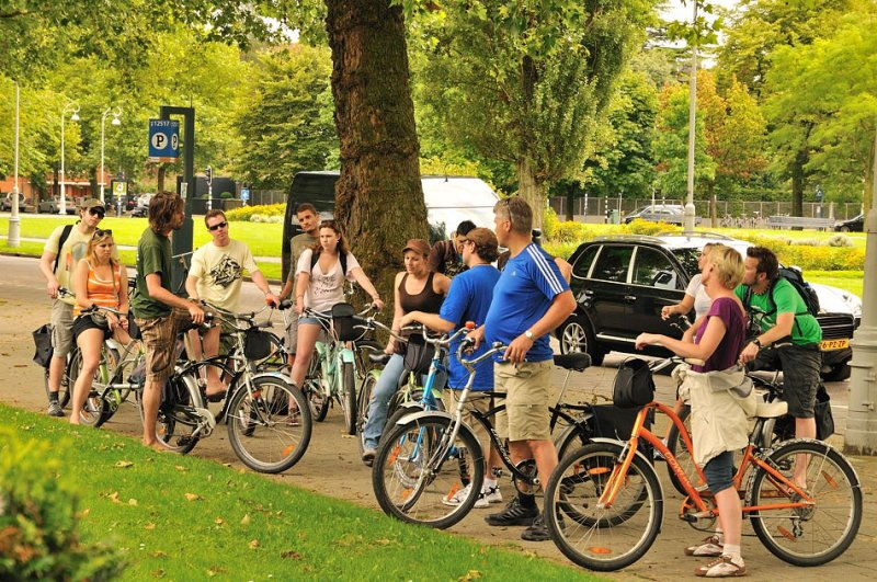 Bicycle tour group - Amsterdam