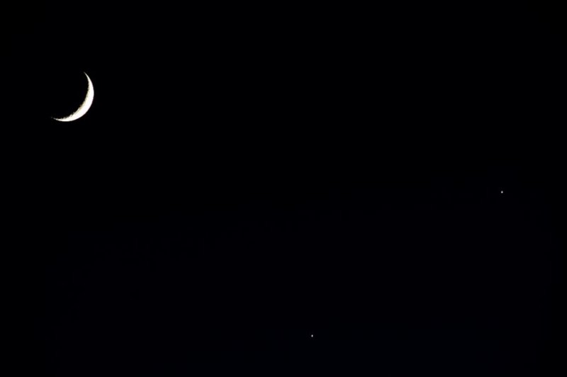 Moon, Jupiter and Venus
